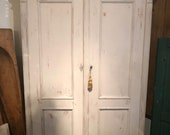 SOLD**** Antique Pine Armoire hutch, whitewashed, with retrofit shelves.  Free Aldie VA pickup/Shipping Extra
