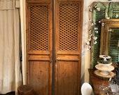 SOLD Antique Pine Door Panels, possibly indonesian