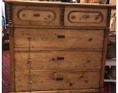 SOLD.   Antique European Waxed Pine Dresser - read Shipping details below