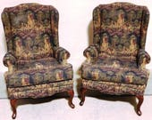 Pair of Wing Back Chairs ...