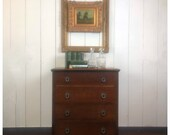 Antique English Oak Small 4-drawer Dresser