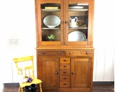 Antique Mixed Wood Hutch Cabinet, pie safe, cupboard