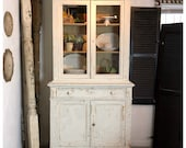 SORRY SOLD Antique Pine Hutch, Painted using Saltwash and Angelic Paint Couture Paint, CHIPPY