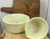 Vintage Custard Vaseline Mixing Bowl Set, Hamilton Beach