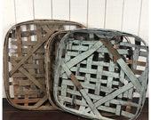 Vintage tobacco baskets