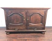 Vintage Oak Sideboard Console