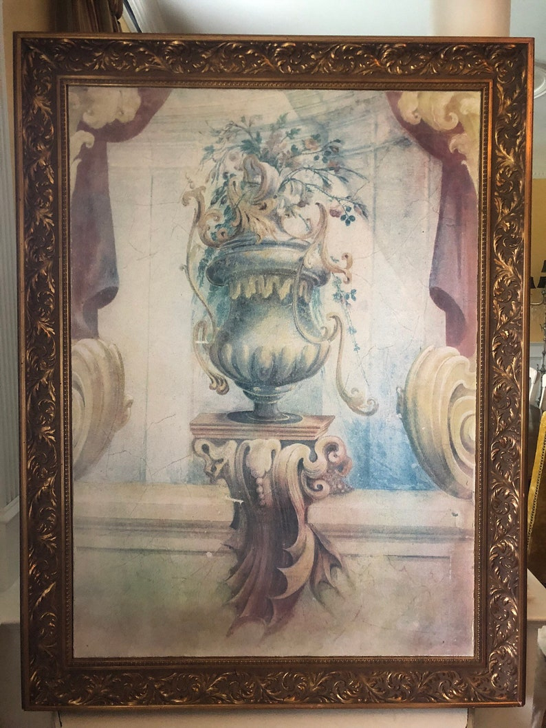 Italian Fresco painting framed image 0