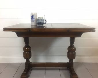 SOLD Vintage English Pub Table, Refectory, J C Lane High Wycomb, 1951, Springfield VA Pick up or ship upon inquiry
