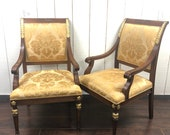 William Switzer Vintage Neoclassical Itialian chairs, pair