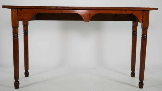 image 0 - SOLD Antique Pine Standing Desk Tall Table Bar. Free Aldie Etsy