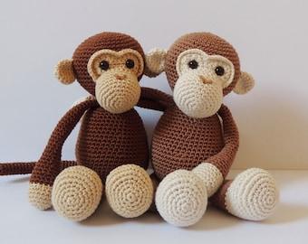 Crochet pattern monkeys Michel and Robin - Amigurumi pattern monkey