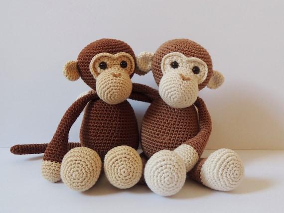 Crochet Pattern Monkeys Michel And Robin Amigurumi Pattern Etsy
