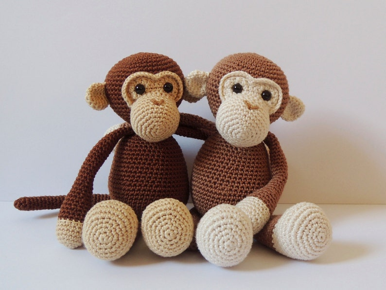 Crochet pattern monkeys Michel and Robin Amigurumi pattern  3ca0d77c986c