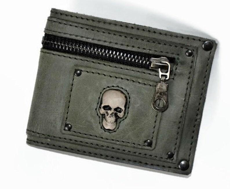 425e593a4f771b Herren Geldbörse Leder Brieftasche Schädel Brieftaschen Männer | Etsy