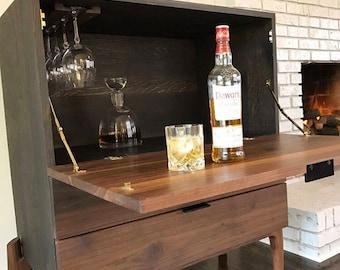 Bar Cabinet, Liquor Cabinet, Bar, Wine Storage, Wine Cabinet