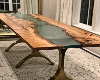 Resin table | Etsy