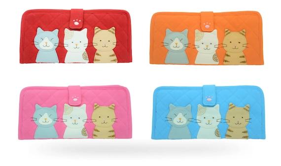 Orange Pink Hikosen Cara Purple Cat Polka Dot Pouch Red A Brand of Japan Handmade Blue