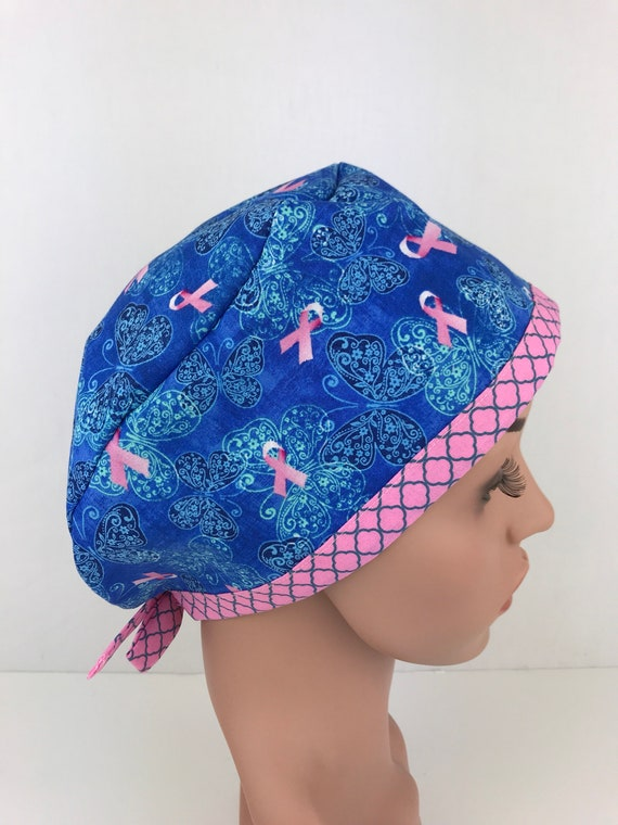 Breast Cancer Awareness Surgical Scrub Hats Womens Medical  910c5bc60