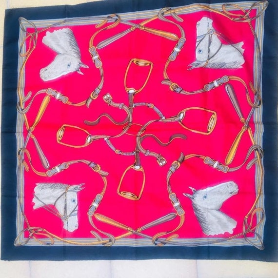 Vintage scarf with horse motif.