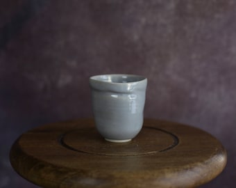 Pale Blue Handmade Ceramic Glass - Pottery Tea Cup - Espresso Cup - Gift - Ceramic Tumbler
