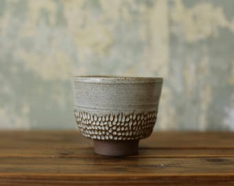 Handmade Ceramic Tea Bowl - Japanese Tea Bowl - White Tea Cup
