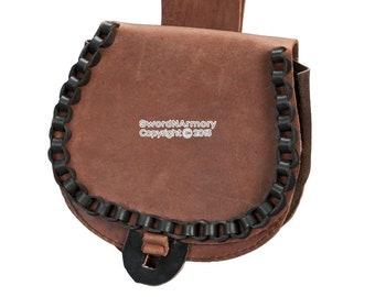 Wild West Genuine Leather Belt Pouch for Medieval Renaissance Fair SCA LARP BR
