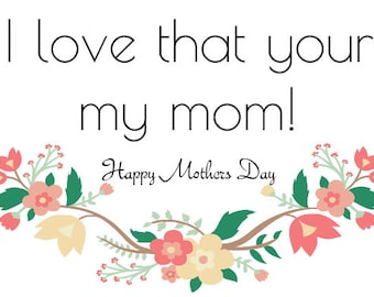 Mothers Day Wine Label *Free Shipping*