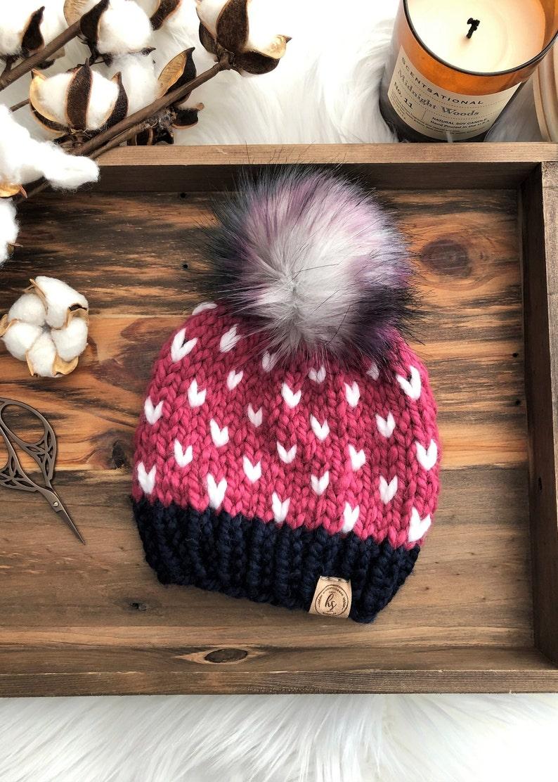 8ac0d4d64b6 6-12 MONTHS Faux Fur Pom-Pom Baby Hat Colorful Baby Knitted