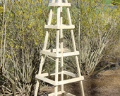 GARDEN TRELLIS OUTDOOR (Unpainted Save Money) Decor Obelisk Climbing Plants Tuteur Patio (Tall Ver)