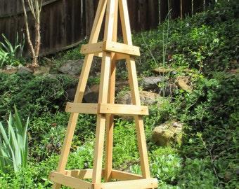 Superbe GARDEN TOWER OUTDOOR Decor Obelisk Climbing Plants Tuteur Cedar Patio  (Short Ver)