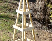 GARDEN TRELLIS OUTDOOR (Unpainted Save Money) Decor Obelisk Climbing Plants Tuteur Patio (Short Ver)