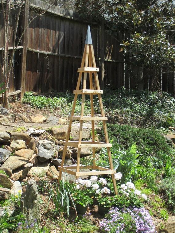 Delicieux GARDEN TOWER CEDAR Outdoor Decor Obelisk Cimbing Plants Tuteur
