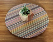 Lazy Susan made from skateboards and walnut