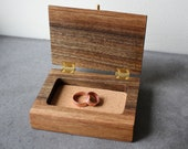 Live edge walnut ring box