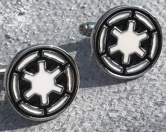 Star Wars Galactic Empire Cufflinks,Star wars cuff link, Mens gifts, Silver Cufflinks, Star wars, Galactic Empire cufflinks