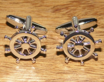 Nautical cufflinks, Sailing cufflinks, sailing, ships wheel, nautical gifts, cufflinks, mens jewellery,nautical gifts, Maritime gifts