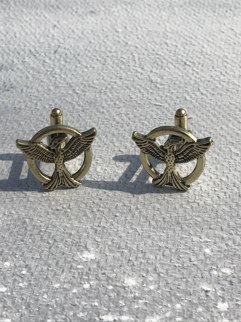 Mockingjay cufflinks hunger games gifts Hunger Games Cufflinks Mockingjay gifts Brass cufflinks cufflinks Hunger Games