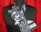 Necktie Necklace WWF DOLPHIN Print Silk Tie / Michael Kors Silk Tie ~ Silk Necklace ~ Women's Necktie ~ Silk Ascot ~ RecycledNeckties