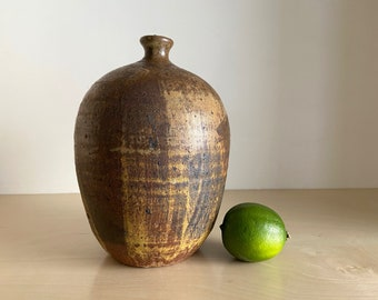 MCM OriginaL sUPer Mod Pot thrown in Sections slashed design studio pottery vase SIGNED MW from rural Nevada Collection