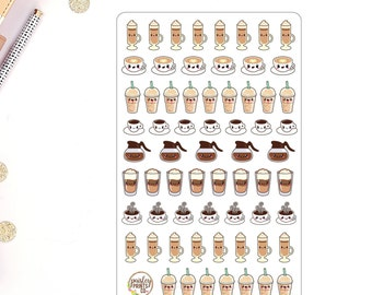 Coffee Stickers for use in Erin Condren Planner Stickers