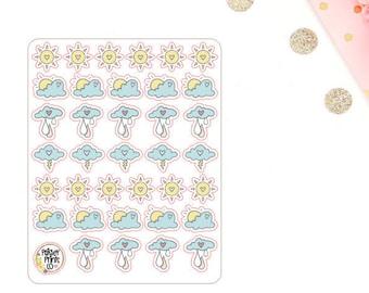Summer Weather Planner Stickers