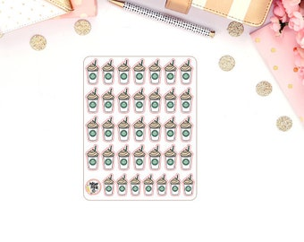 Coffee Iced Coffee Blended Coffee Planner Stickers