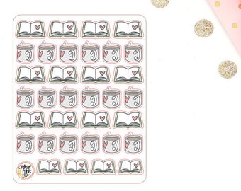 Book and Coffee Planner Stickers