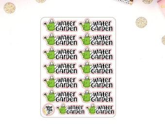 Water Garden Water Plants Reminder Planner Stickers