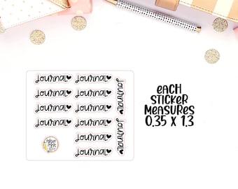 Journal Script Planner Stickers