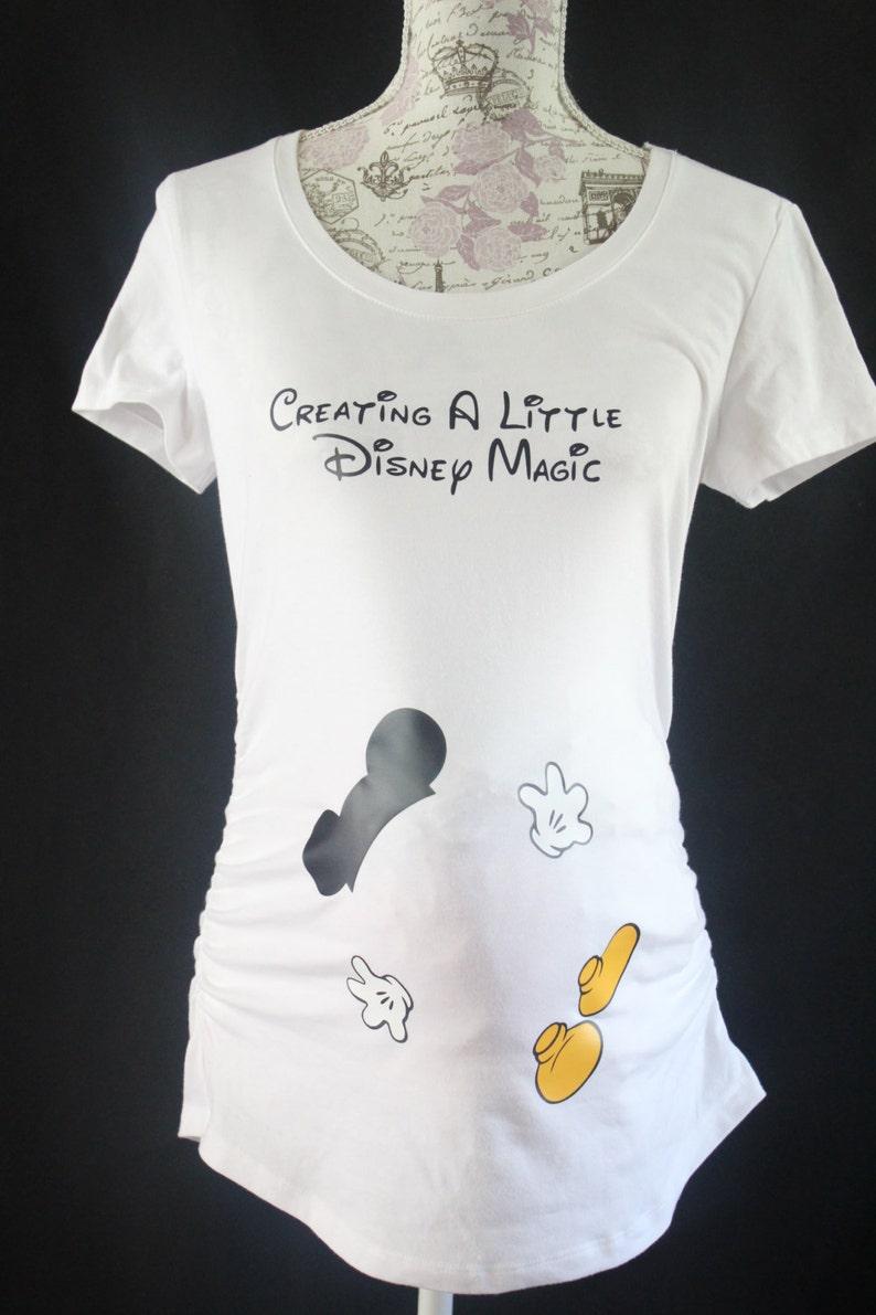 ab38129498fcf Adorable Creating a Little Disney Magic Maternity T Shirt | Etsy