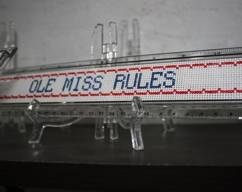 College or high school team colors ruler, cross stitch ruler, college colors, mascots, collegiate ruler, high school ruler
