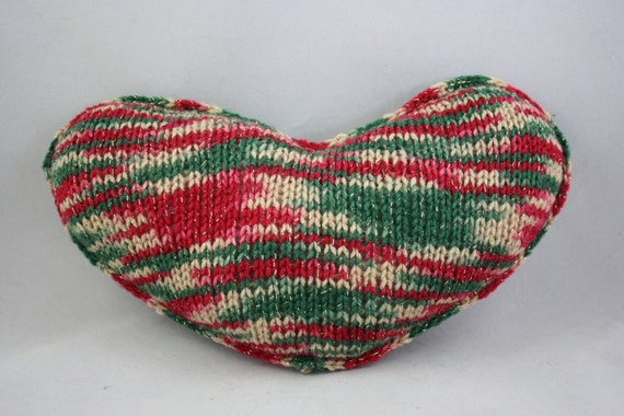 Heart Pillow Knitted Pillow Knitted Pillows Heart Shaped Etsy