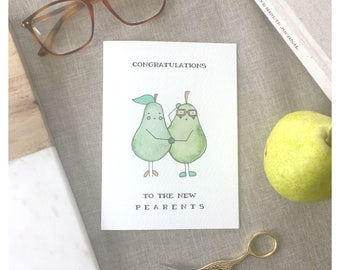 PEARENTS CARD // new parents, baby shower card, baby shower card, funny baby shower card, expecting card, new parents, newborn card, pun
