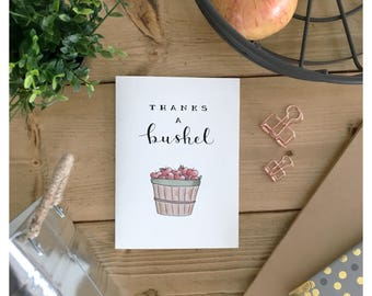 Thank You Card // funny thank you card, teacher card, thank you teacher card, card for teacher, teacher gift, gift for teacher, apple card